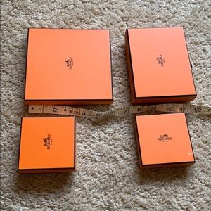 Authentic hermes boxes four